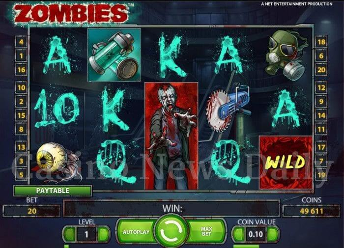 Zombies Slot From Net Entertainment